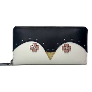 Kate Spade New York Leather Continental Owl Wallet